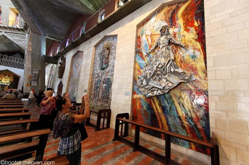Mosaics and art donated by different countries