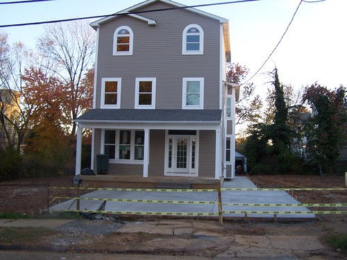 "Rebuilt ""McMansionized"" house, Brookland"