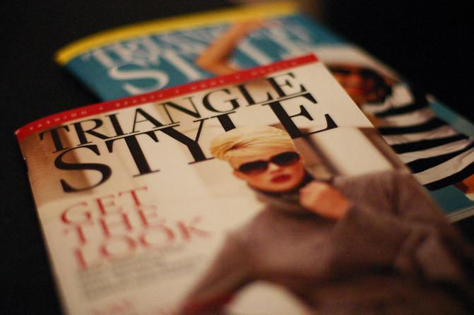 Fashion magazine, style, Triangle Style magazine