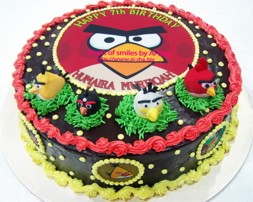 Birthday Cake Edible Image Angry Birds