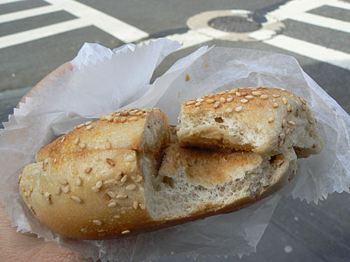 sesame bagel with Peanut butter.jpg