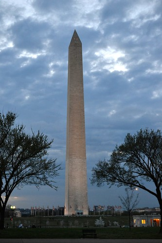 Washington Monument! The sun had just set...