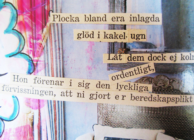 Cut out poetry from vintage book