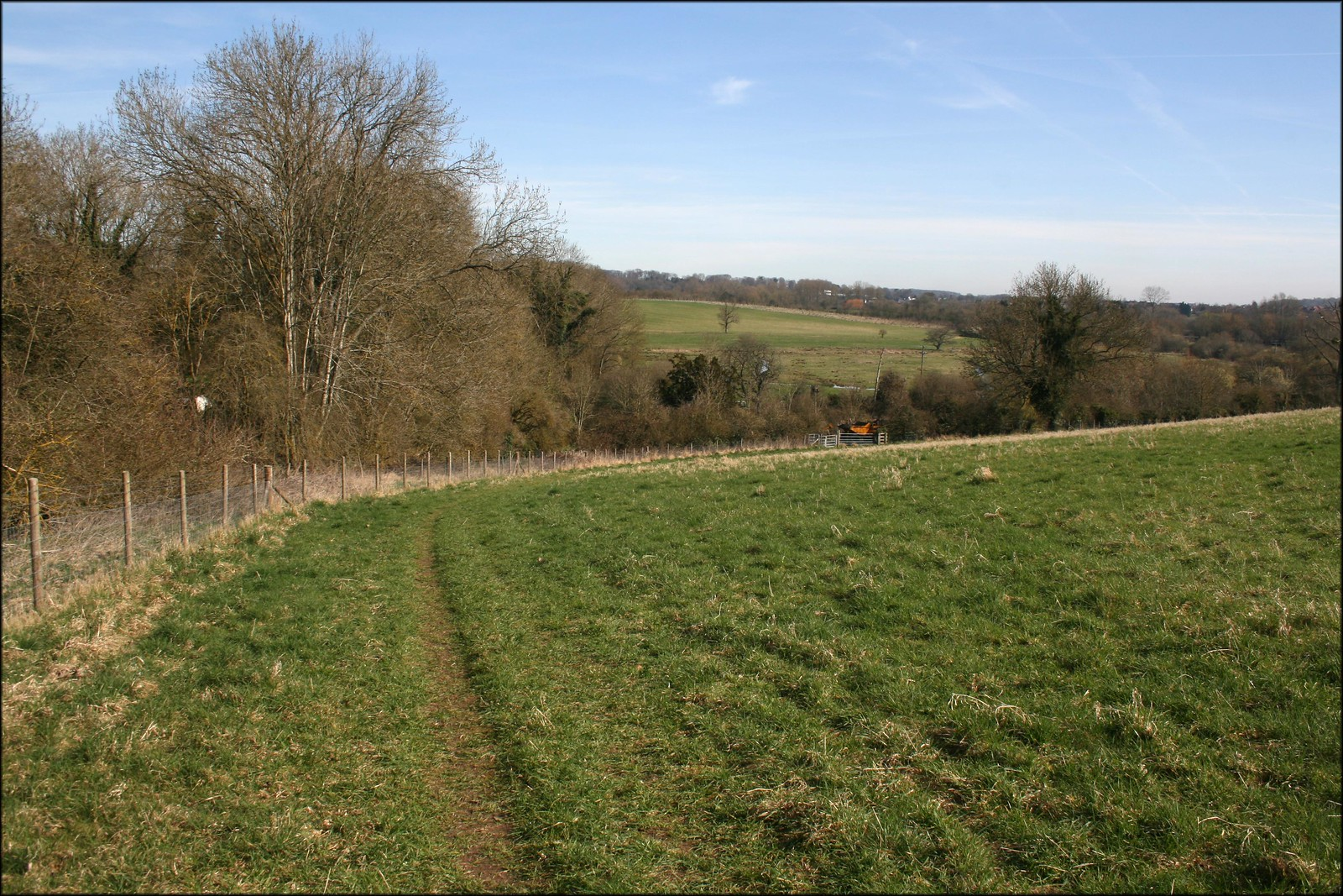 The Test valley near Tufton