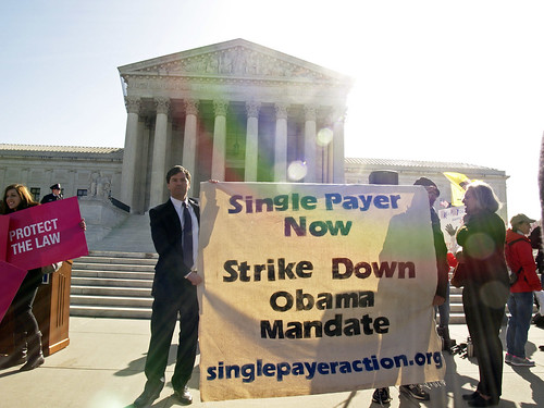 Demonstrating for Single Payer
