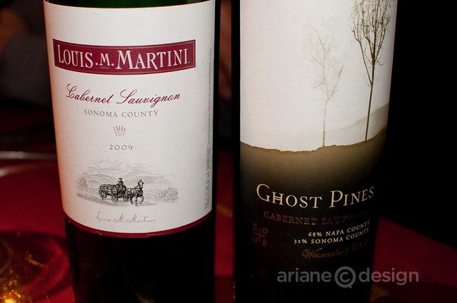 Martini and Ghost Pine Cabernets