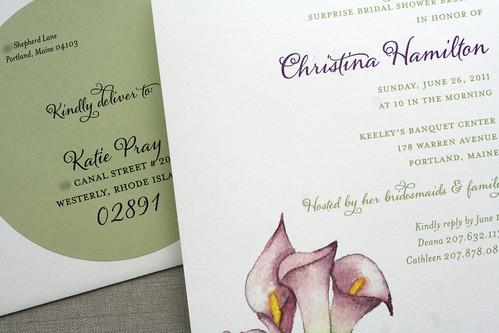 Bridal Shower Invitation by Sarah Parrott