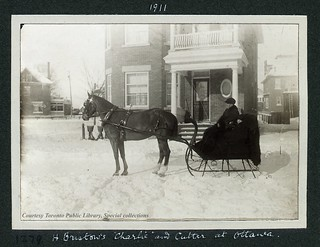 """H. Bristow's """"Charlie"""" and Cutter, Ottawa, 1911"""