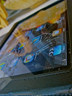 Cracked iPad
