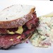 Smoked meat sandwich from Mile End