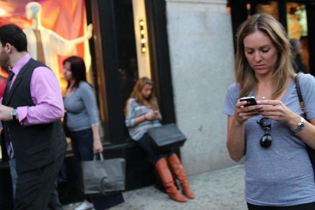 customers on phones
