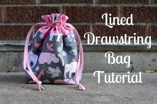 Lined Drawstring Bag Tutorial Flickr Photo Sharing