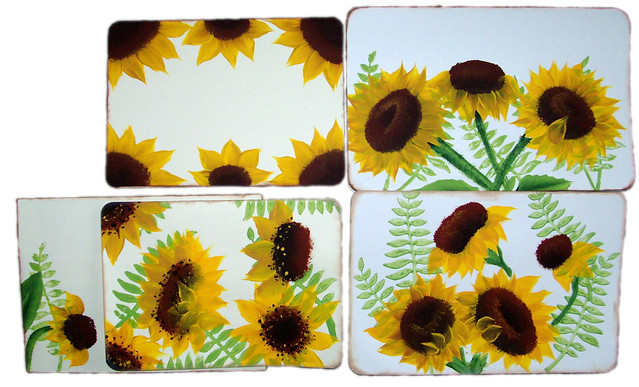 One Stroke Painting Sunflowers http://www.flickr.com/photos/forgetmenotdesigns/6254799384/