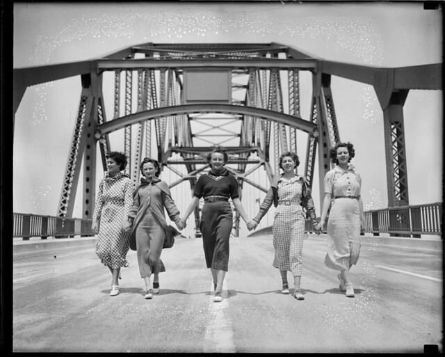 Women on bridge