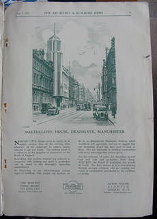 Tentest Fibre Board advert, 1931 - illustration of Northcliffe House, Deansgate, Manchester, UK | by mikeyashworth