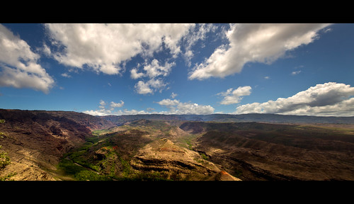 summer panorama clouds landscape interesting hiking stones creative canyon explore valley kauai impressive waimeacanyon lr3 tamron1750mm canon7d jeremympiehler hawaii2011 spetacularview