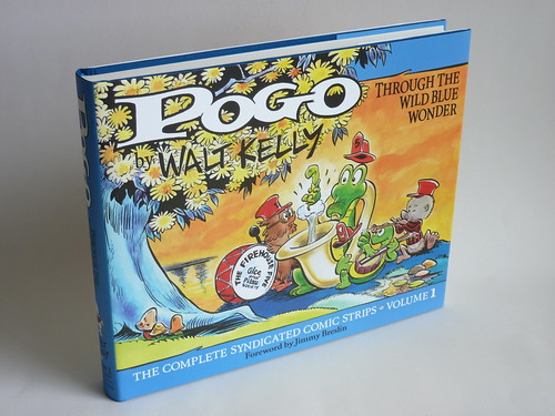"Pogo - Vol. 1 of the Complete Syndicated Comic Strips: ""Through the Wild Blue Wonder"" by Walt Kelly - front cover"