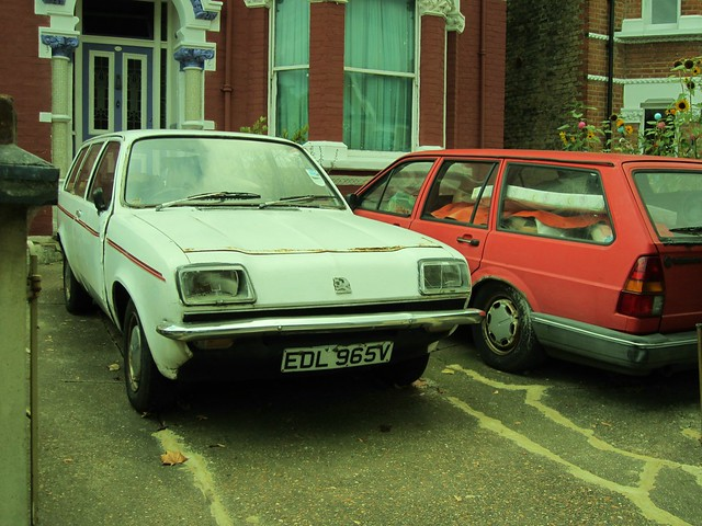 1980 Vauxhall Chevette L Estate and VW Passat.