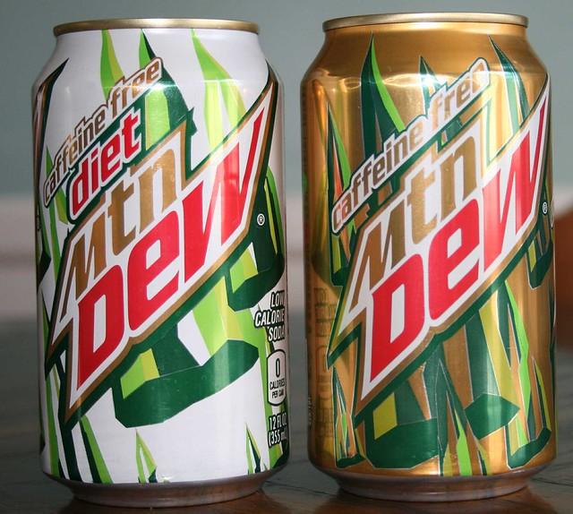 caffeine free mountain dew