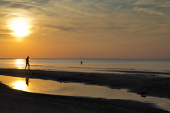 Man Jogging at Sunset