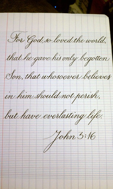 John 3 16 Osmiroid Fountain Pen With Copperplate Nib