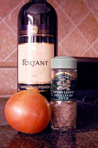 Bone-In Ribeye Steaks with Cabernet Sauce Ingredients