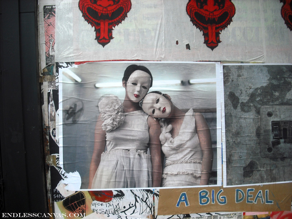 """dancers"" paste up - San Francisco, Ca"