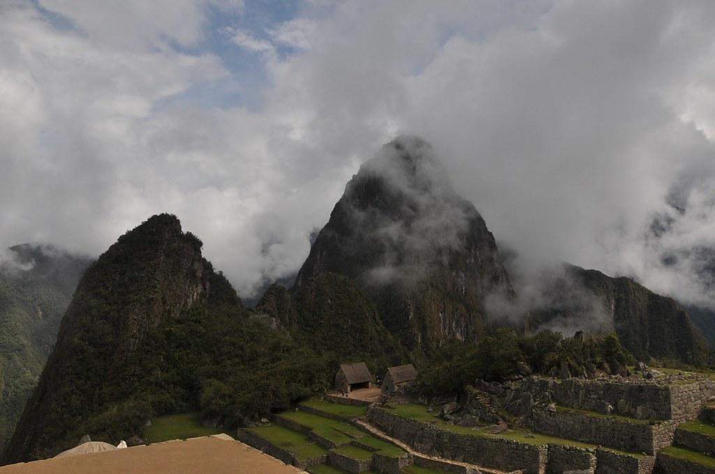 A foggy Machu Picchu
