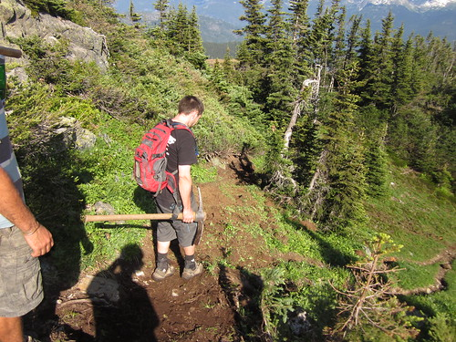 Trail Maintenance on Rainbow Mountain