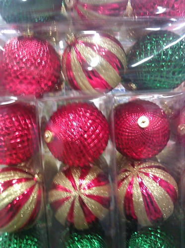 Christmas ornaments at a DC Home Depot on November 20, 2011