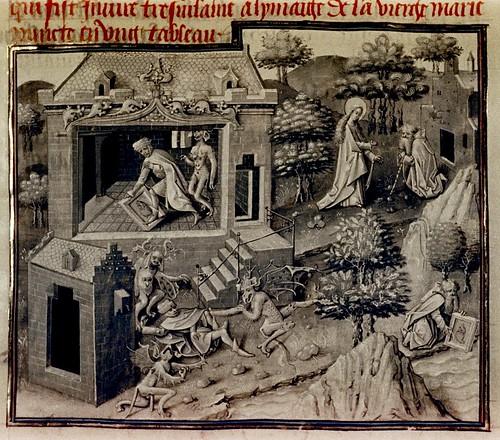 Miracles de Nostre Dame. Flemish c.1456. Bodl. Douce 374 by tony harrison