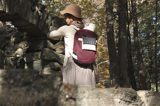Merlot Waxed Backpack