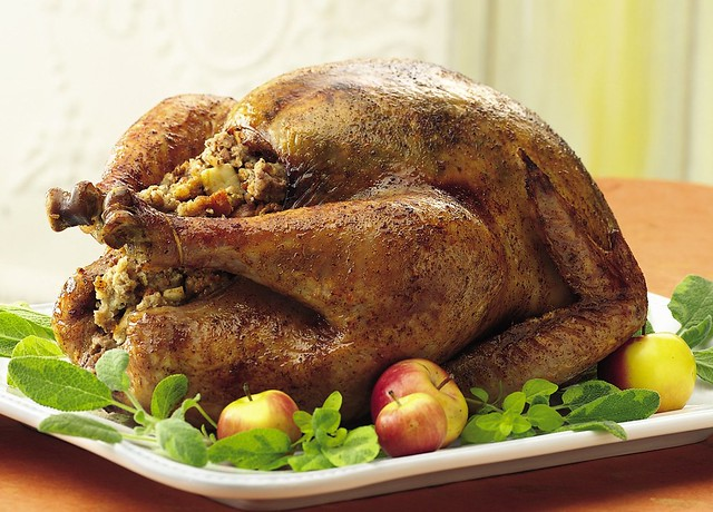 Honey-Spice Roast Turkey with Apple-Pecan Stuffing Recipe