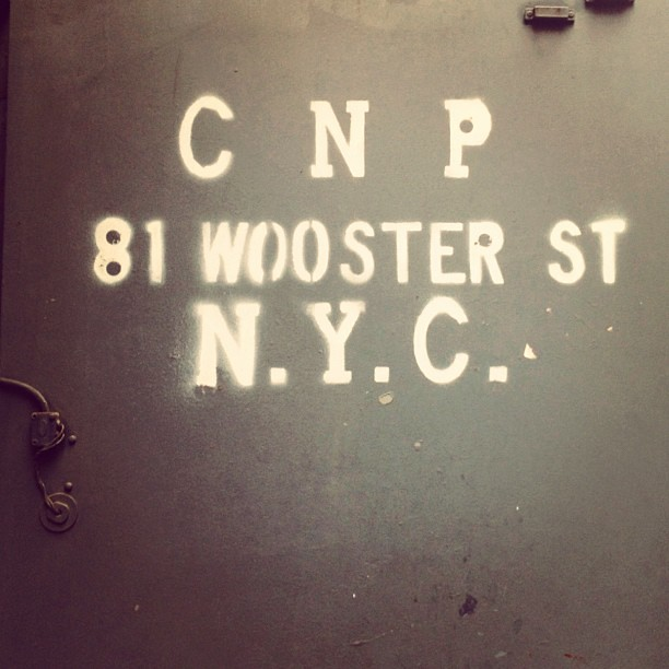 Type on Wooster st