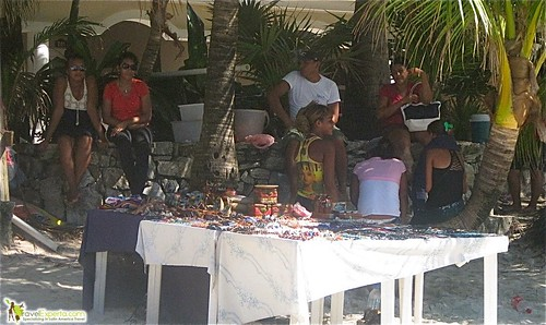 Street Jewelry Vendors West Bay Beach Roatan Honduras
