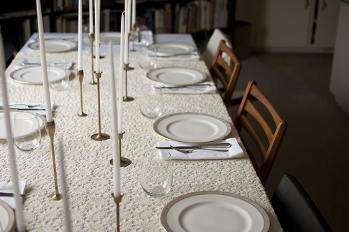 the table, set