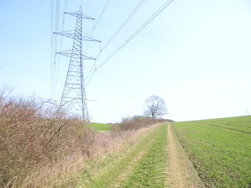 A pylon crosses
