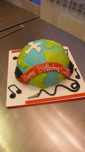 Globe Birthday Cake by CAKE Amsterdam - Cakes by ZOBOT