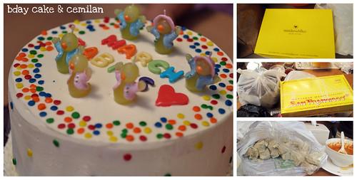 bday cake & cemilan