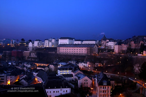 Blue Hour in Luxembourg