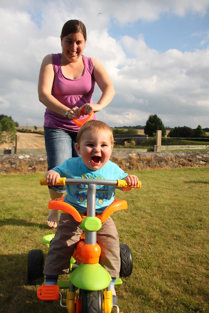 Alex loving his new trike