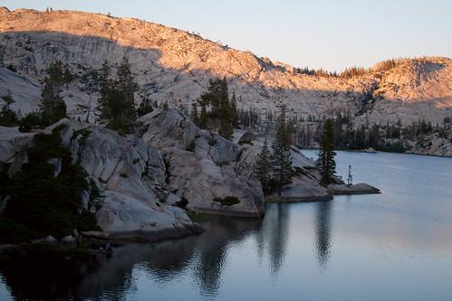 sunset lake sierra hyatt wilderness emmigrant