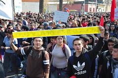 """""""Que el guanaco tire cerveza!"""". Marcha por la educación, 9 de agosto 2011"""