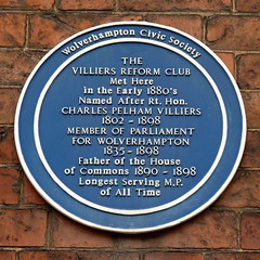 Photo of C. P. Villiers blue plaque