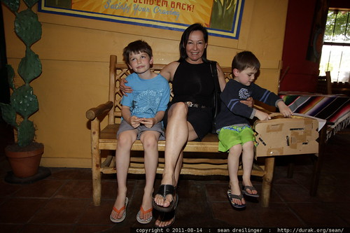 grandma neeta &  grandsons waiting for a table