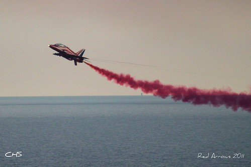 RAF Red Arrows over Fowey Regatta, 18th August 2011 by Claire Stocker (Stocker Images)