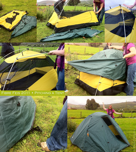 Pitching a Tent without Pitching a Fit