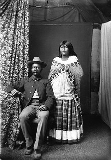 Buffalo Soldier and Native American Wife - 1800s