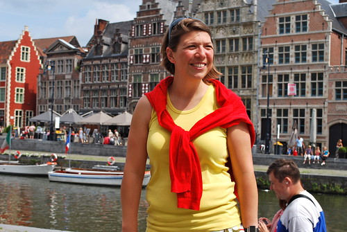 When Cathy isn't hiking in far remote places or training for a triathlon, she works as a sports counselor for the city of Ghent. On top of that Cathy loves to guide visitors from all over the world in 'her' city of Ghent. Ghent a vibrant and dynamic city ? You may be sure Cathy has something to do with it !