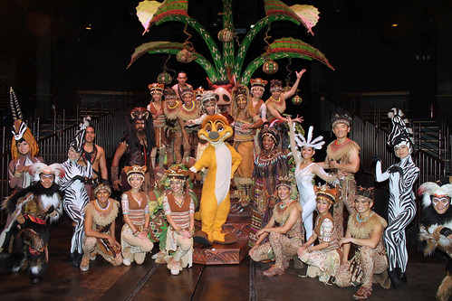 Meeting the cast and characters of the Festival of the Lion King after the show